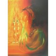 ציור - הדלקת נרות