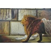 ציור - אריה בכותל