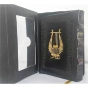 תהלים יסוד התפילה דמוי עור קטן עם תמונה וקופסא